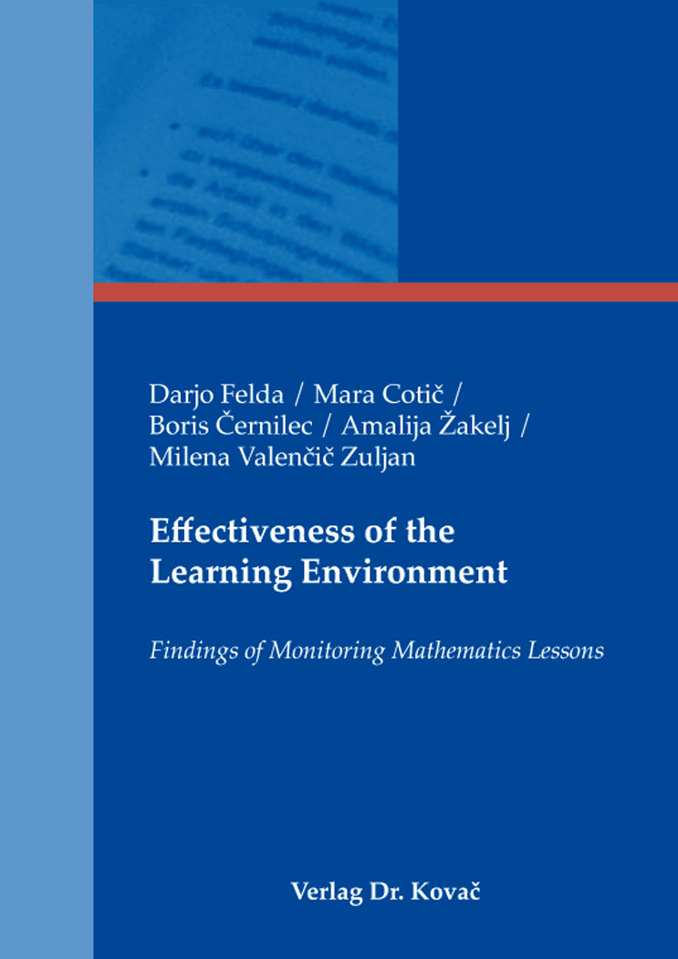 Cover: Effectiveness of the Learning Environment