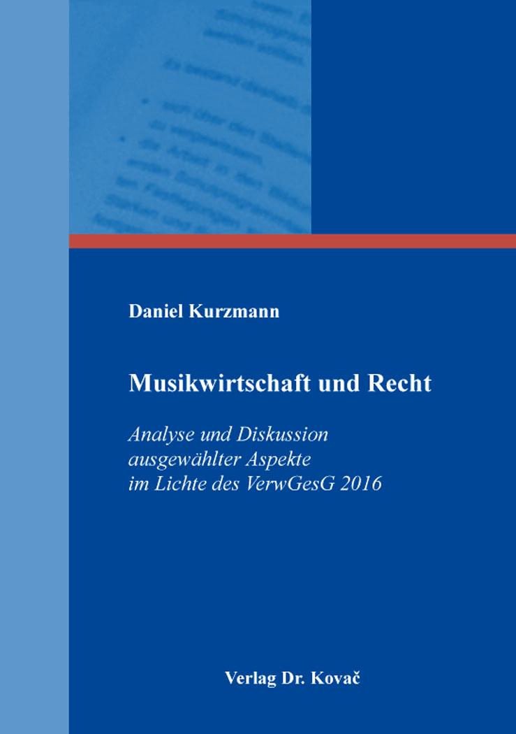 Cover: Musikwirtschaft und Recht