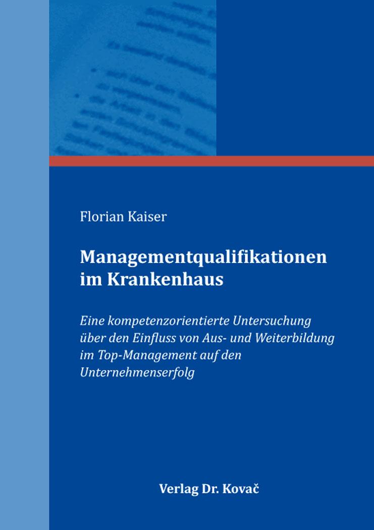 Cover: Managementqualifikationen im Krankenhaus