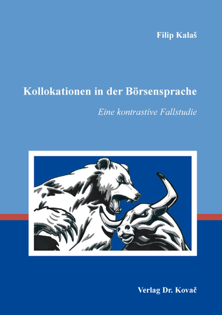 Cover: Kollokationen in der Börsensprache
