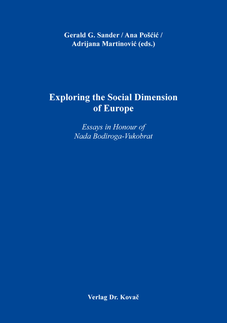 Cover: Exploring the Social Dimension of Europe
