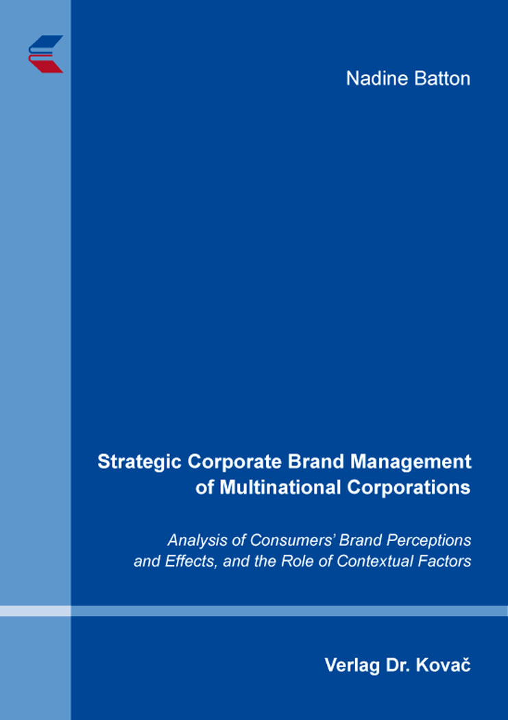 Cover: Strategic Corporate Brand Management of Multinational Corporations