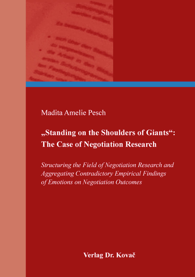 """Cover: """"Standing on the Shoulders of Giants"""": The Case of Negotiation Research"""