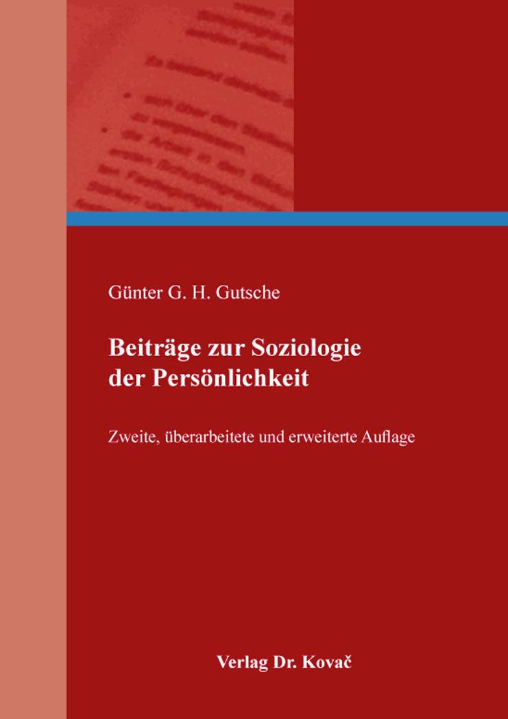 Cover: Beiträge zur Soziologie der Persönlichkeit