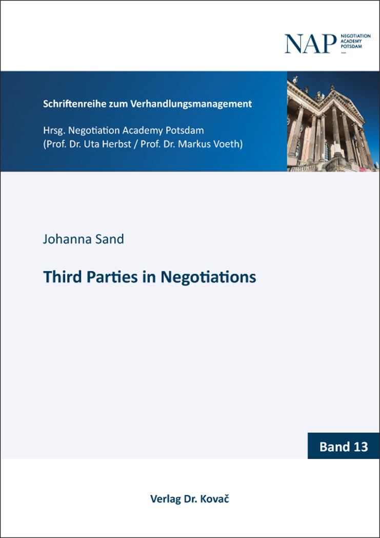 Cover: Third Parties in Negotiations
