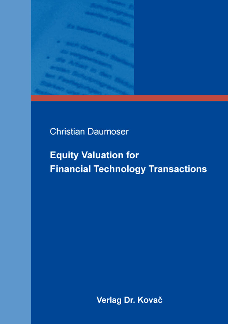 Cover: Equity Valuation for Financial Technology Transactions