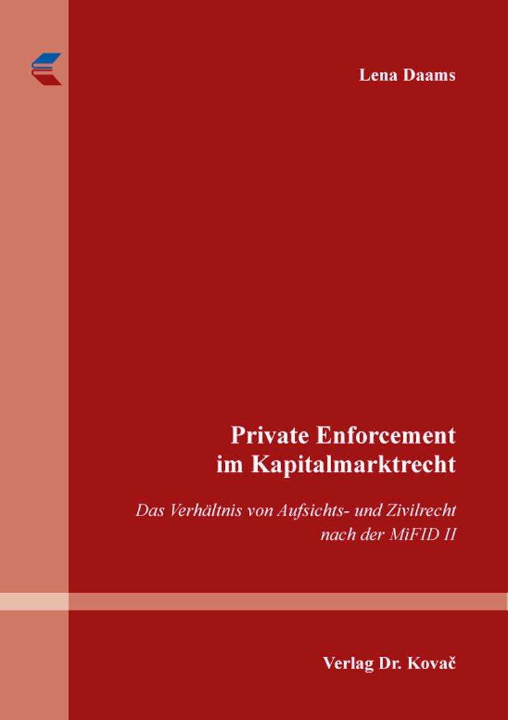 Cover: Private Enforcement im Kapitalmarktrecht