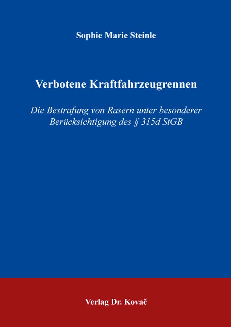 Cover: Verbotene Kraftfahrzeugrennen