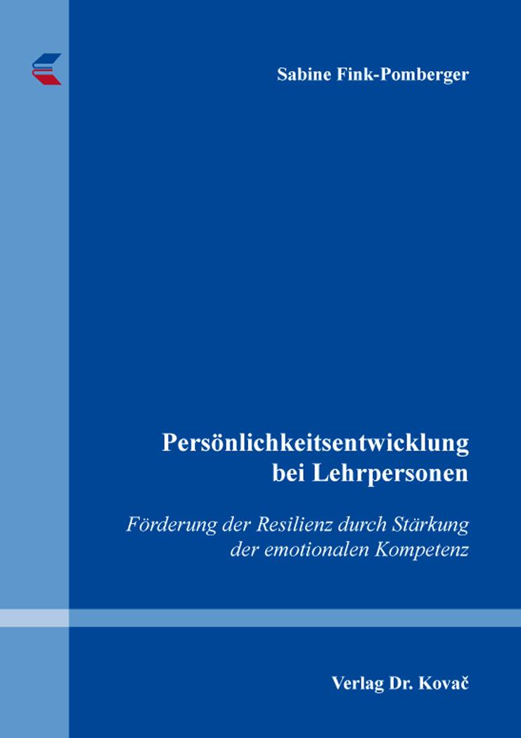 Cover: Persönlichkeitsentwicklung bei Lehrpersonen