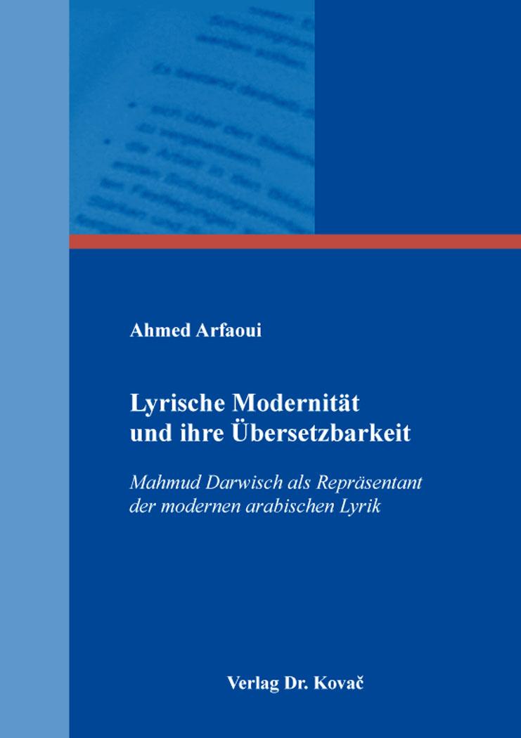 Cover: Lyrische Modernität und ihre Übersetzbarkeit