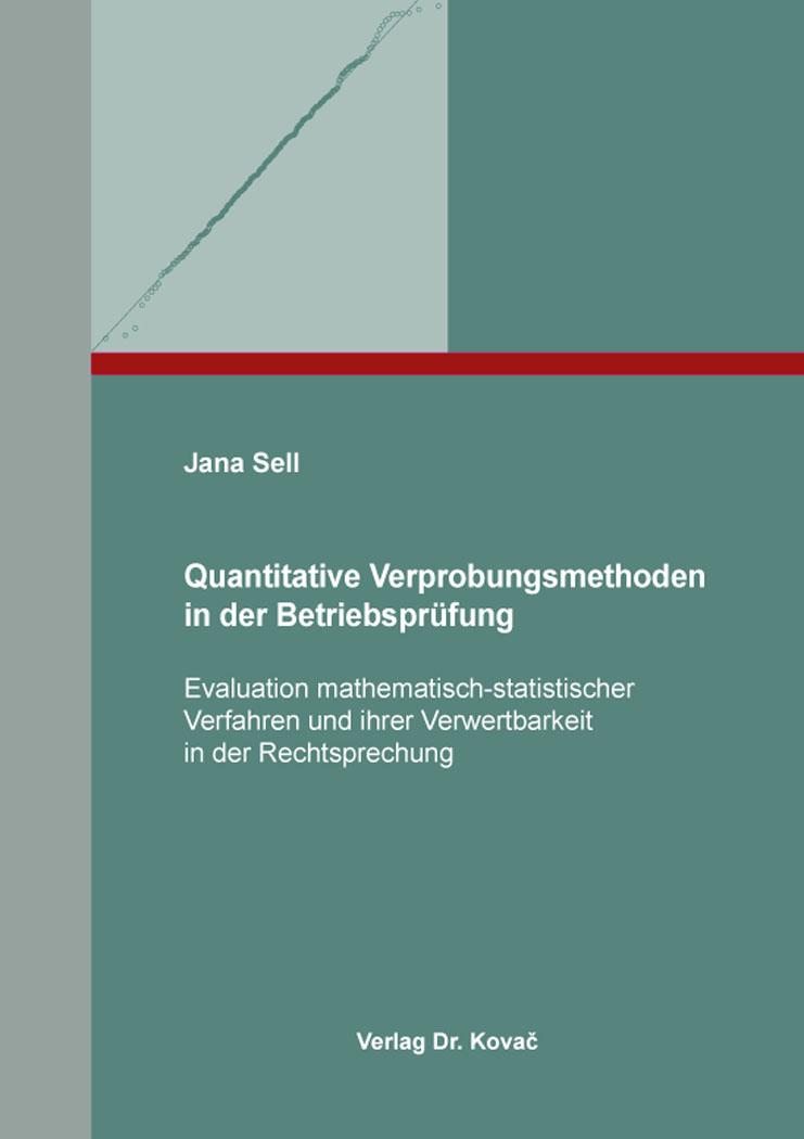 Cover: Quantitative Verprobungsmethoden in der Betriebsprüfung