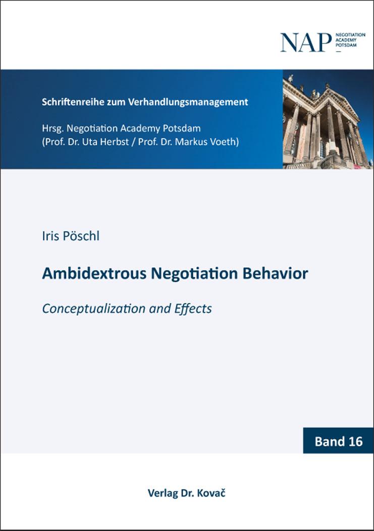 Cover: Ambidextrous Negotiation Behavior