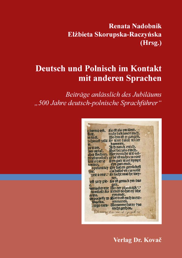 Cover: Deutsch und Polnisch im Kontakt mit anderen Sprachen