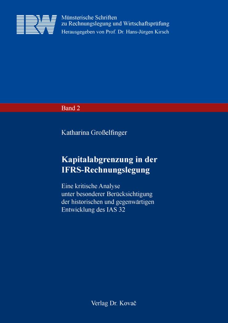 Cover: Kapitalabgrenzung in der IFRS-Rechnungslegung