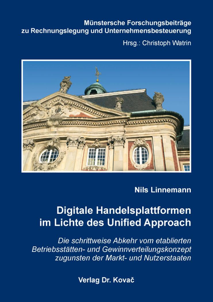 Cover: Digitale Handelsplattformen im Lichte des Unified Approach