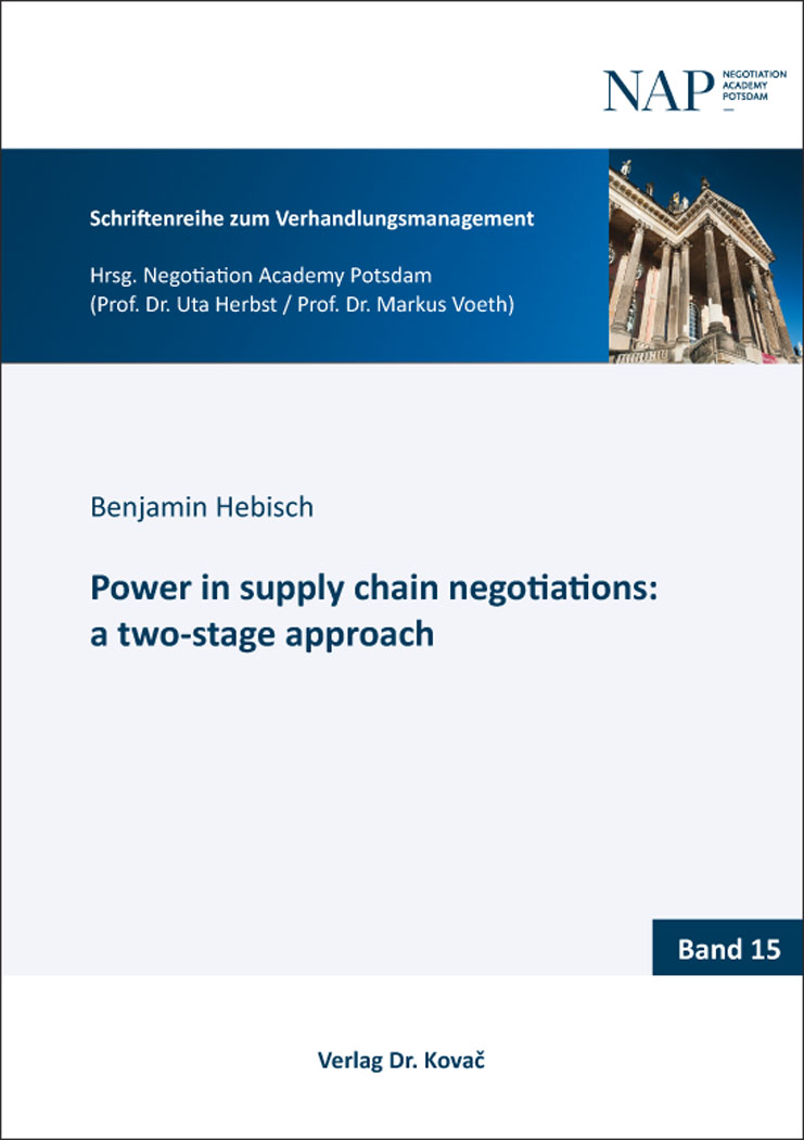 Cover: Power in supply chain negotiations: a two-stage approach