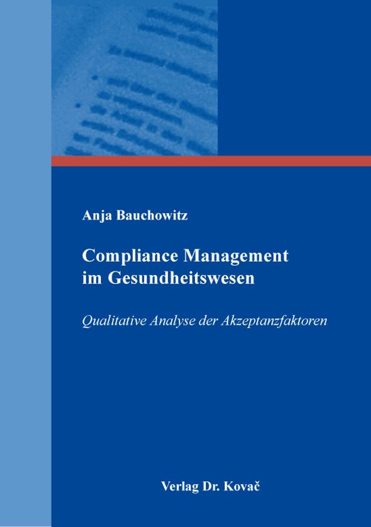 Cover: Compliance Management im Gesundheitswesen