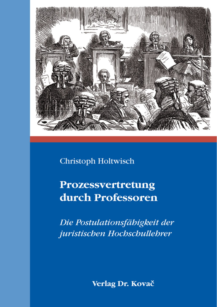 Cover: Prozessvertretung durch Professoren