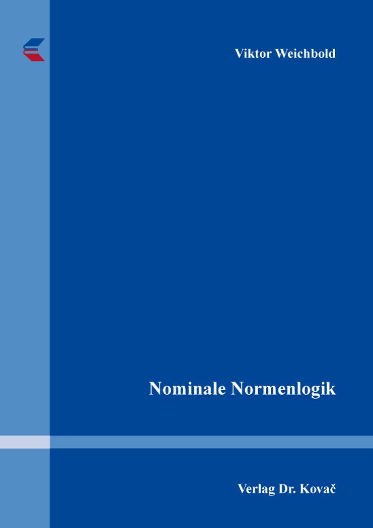 Cover: Nominale Normenlogik