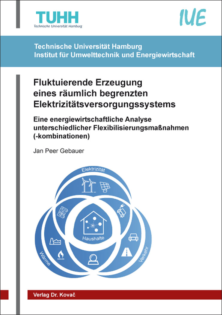 Cover: Fluktuierende Erzeugung eines räumlich begrenzten Elektrizitätsversorgungssystems
