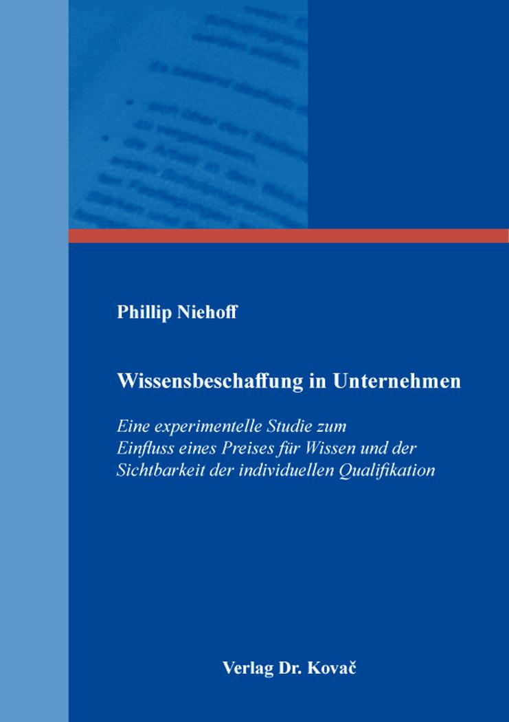 Cover: Wissensbeschaffung in Unternehmen