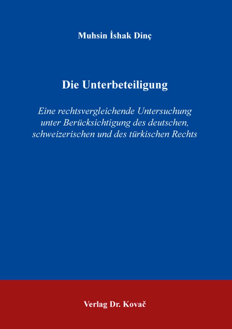 Cover: Die Unterbeteiligung