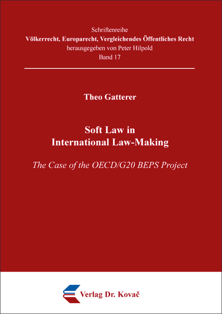 Cover: Soft Law in International Law-Making