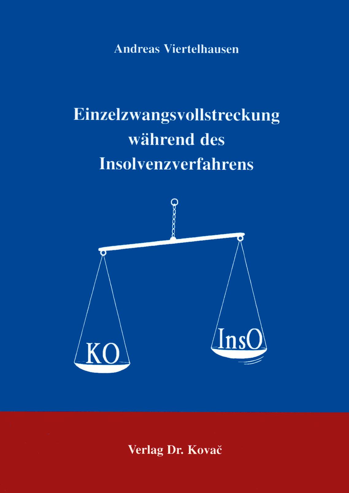 Cover: Einzelzwangsvollstreckung während des Insolvenzverfahrens