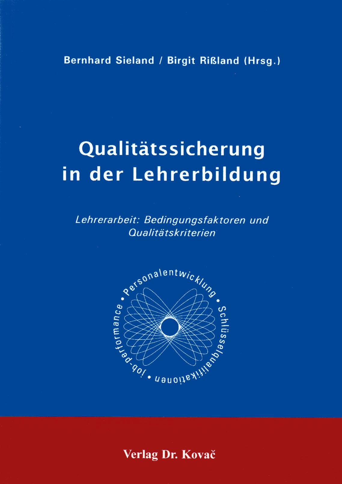 Cover: Qualitätssicherung in der Lehrerbildung