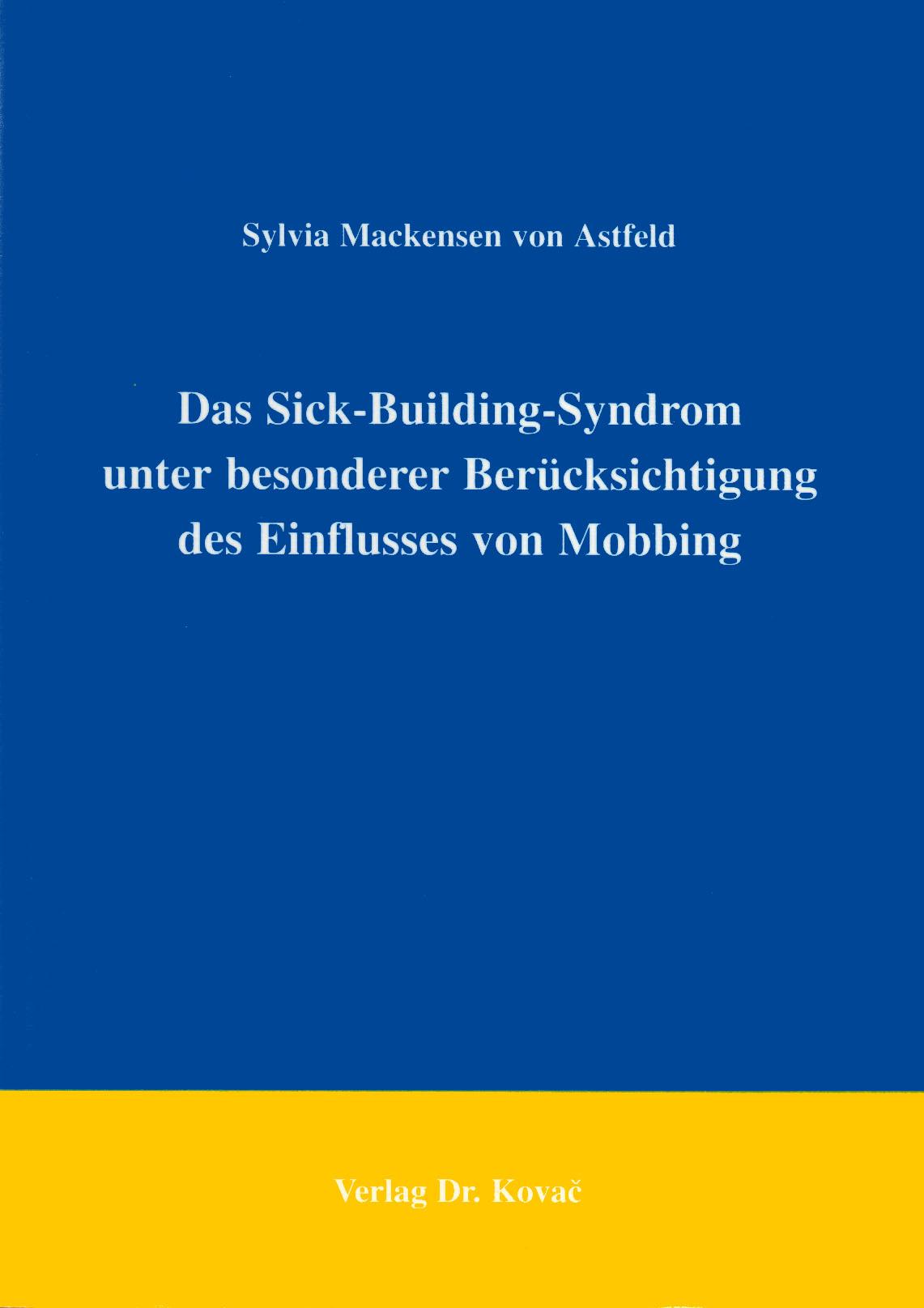 Cover: Das Sick-Building-Syndrom