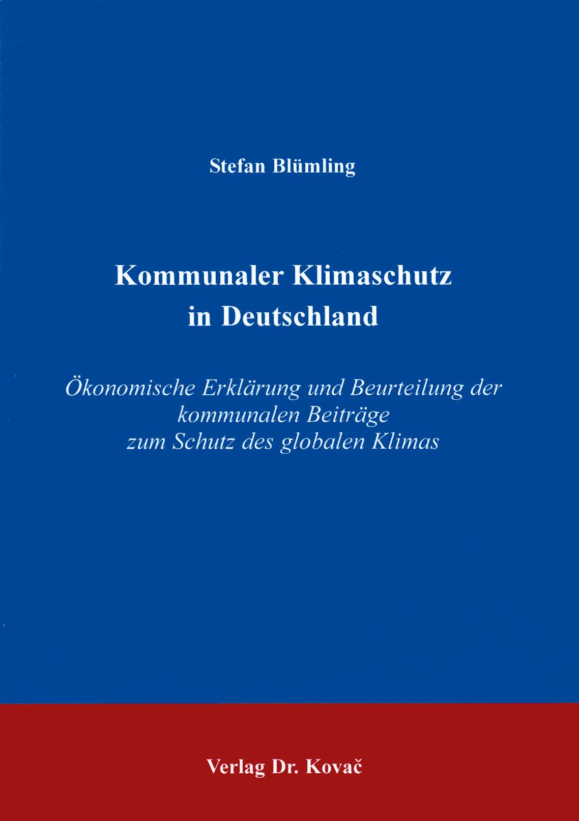 Cover: Kommunaler Klimaschutz in Deutschland