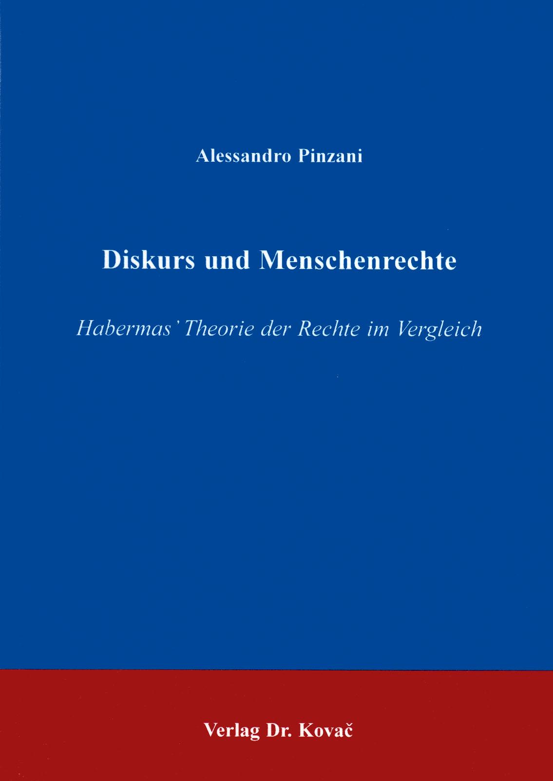 Cover: Diskurs und Menschenrechte