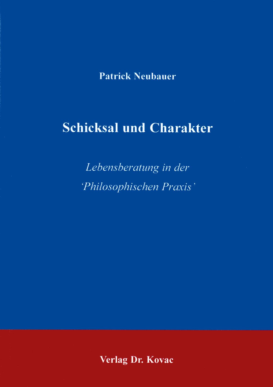 Cover: Schicksal und Charakter