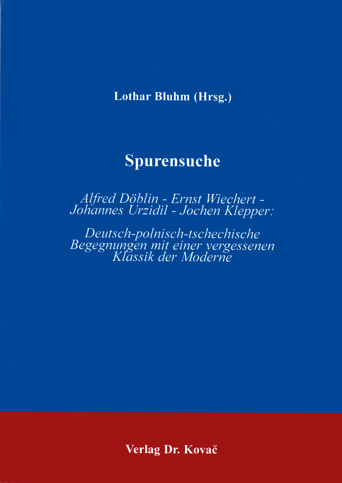 Cover: Spurensuche