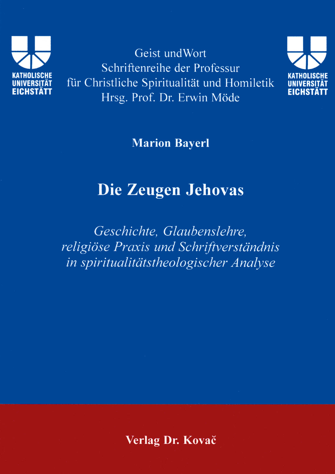 Cover: Die Zeugen Jehovas