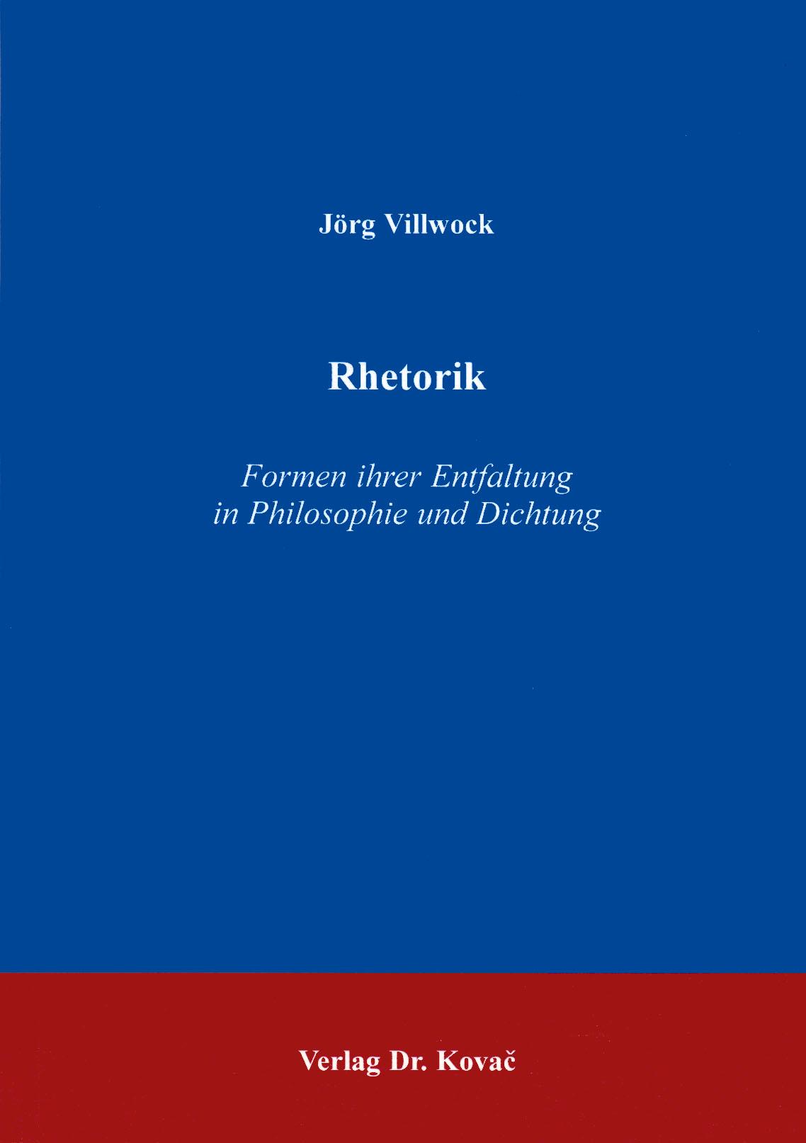 Cover: Rhetorik