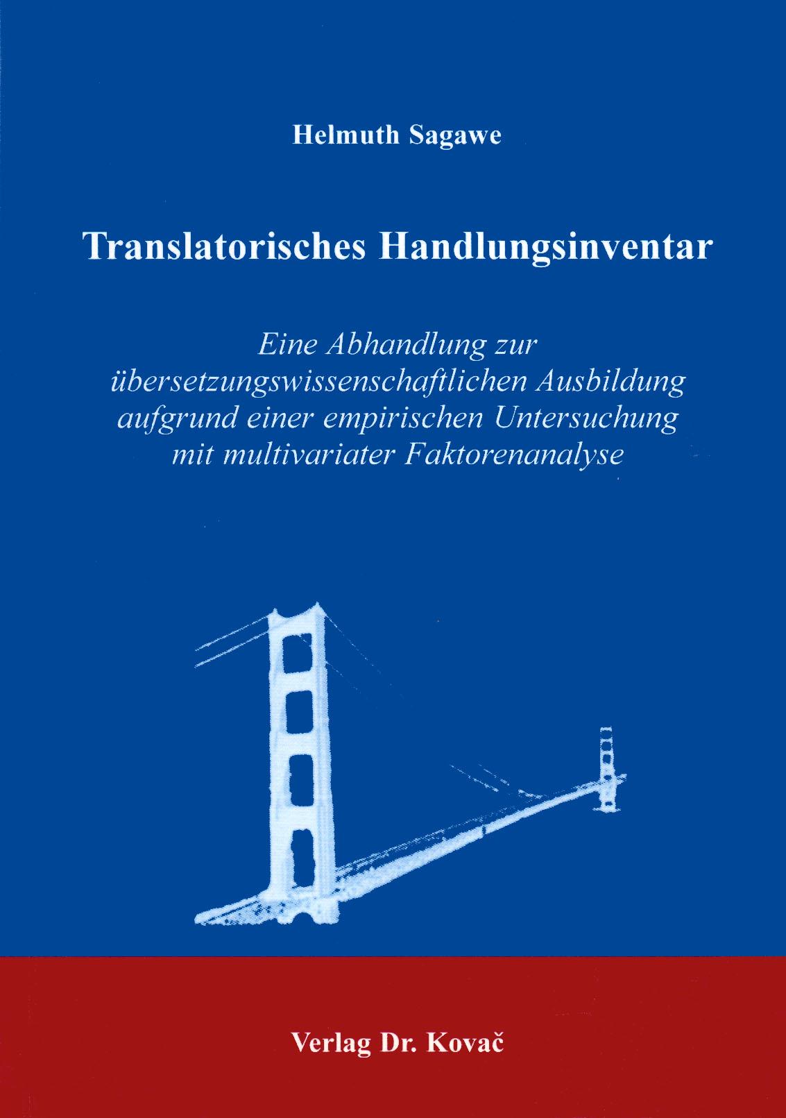 Cover: Translatorisches Handlungsinventar