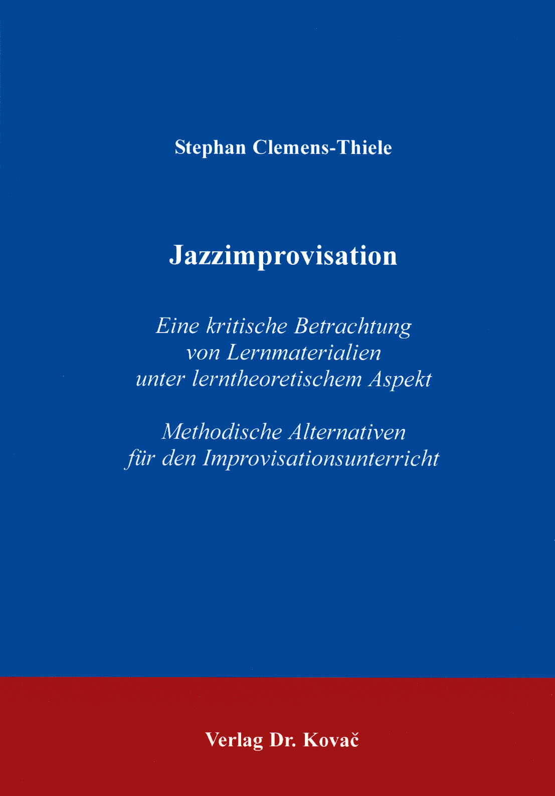 Cover: Jazzimprovisation