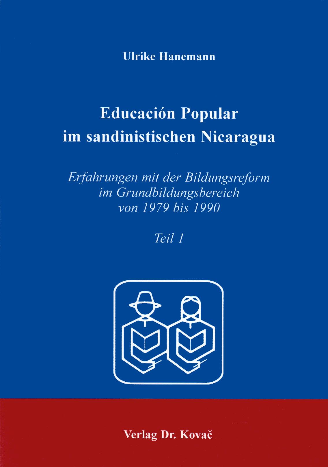 Cover: Educacion Popular im sandinistischen Nicaragua