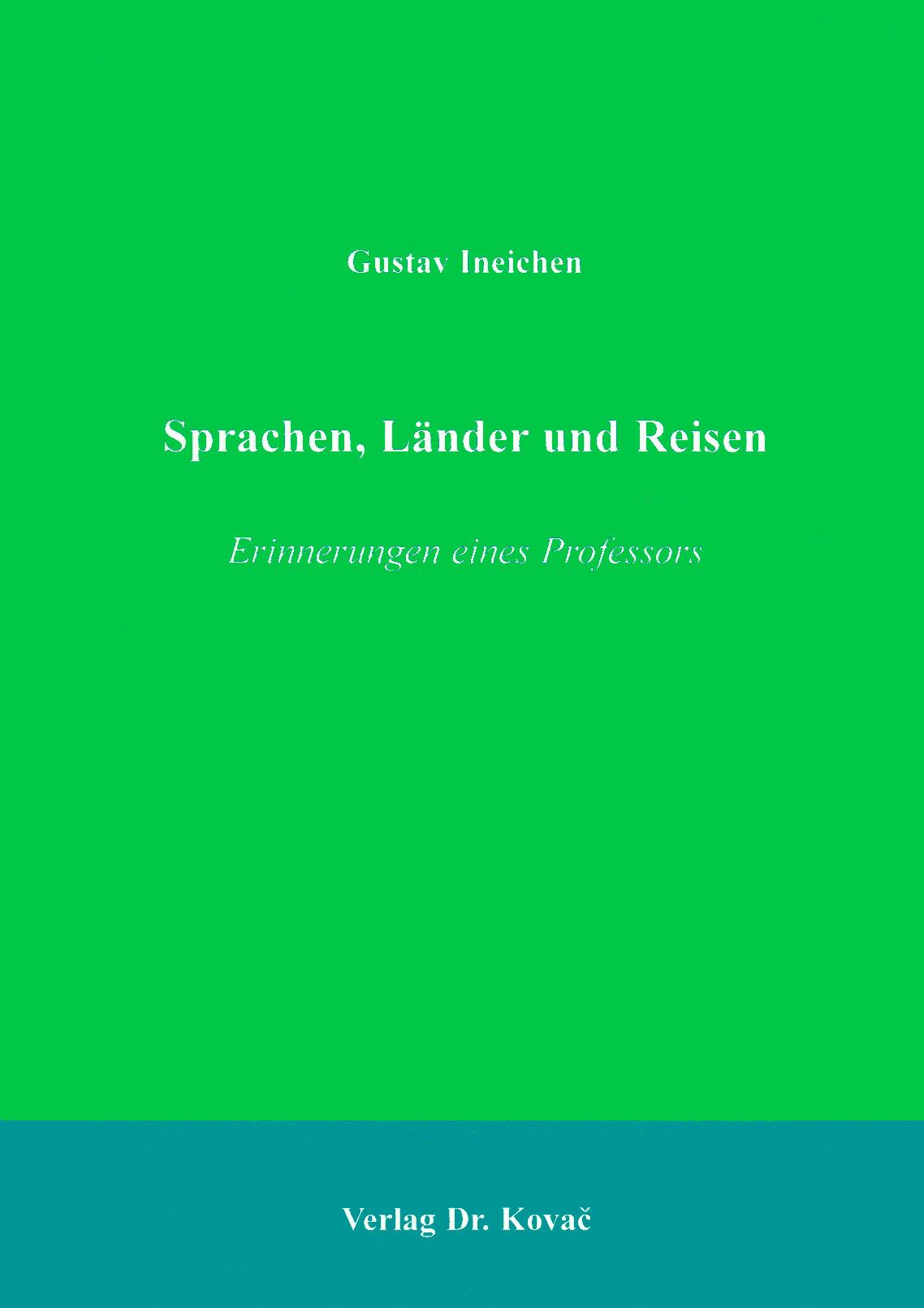 Cover: Sprachen, Länder und Reisen