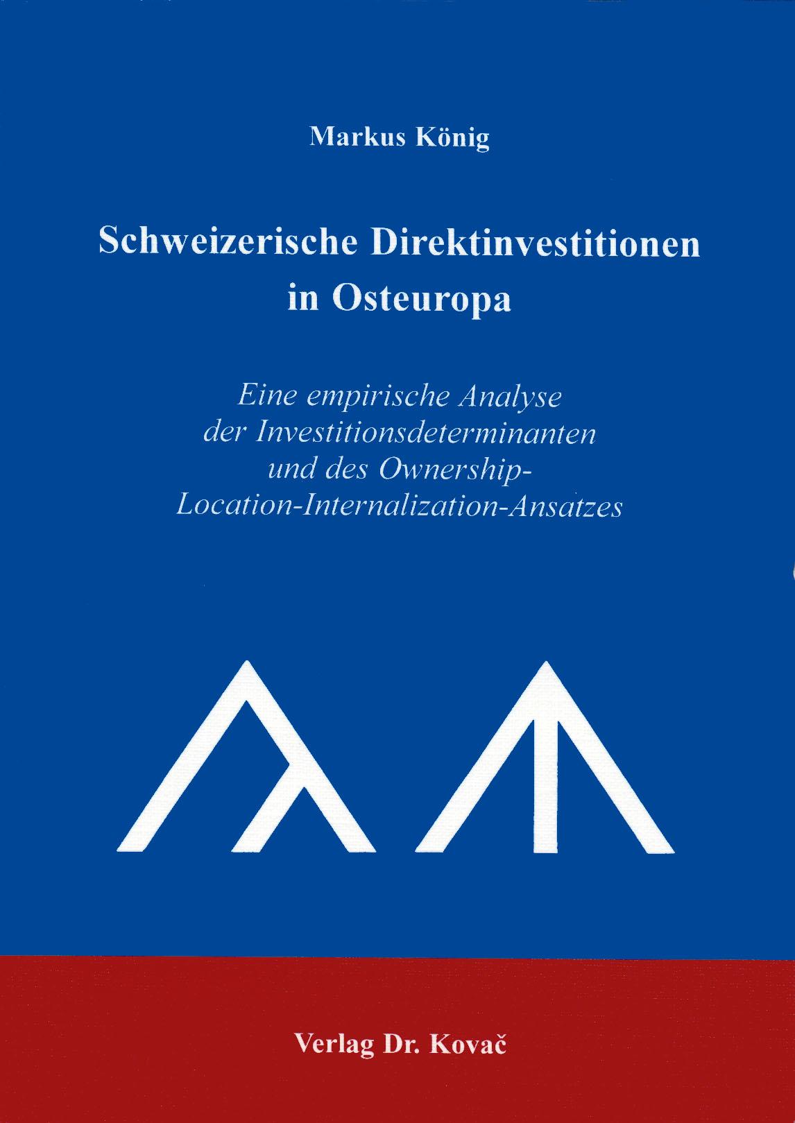 Cover: Schweizerische Direktinvestitionen in Osteuropa