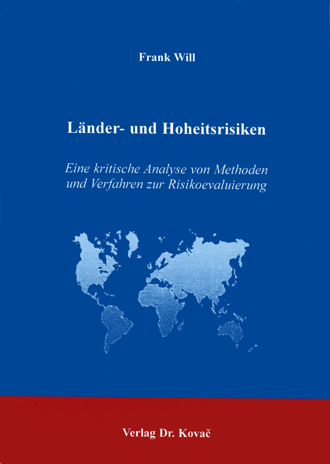 Cover: Länder- und Hoheitsrisiken
