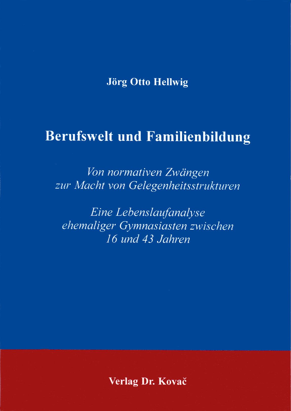 Cover: Berufswelt und Familienbildung