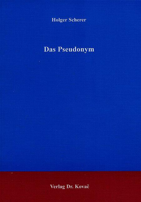 Cover: Das Pseudonym