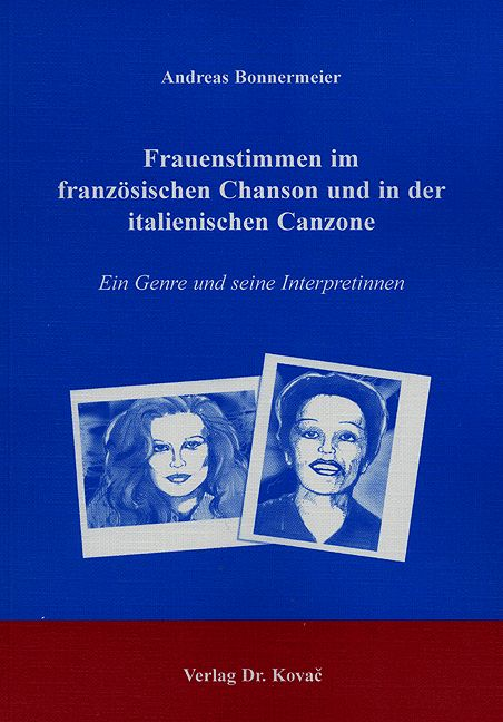 Cover: Frauenstimmen im französischen Chanson und in der italienischen Canzone