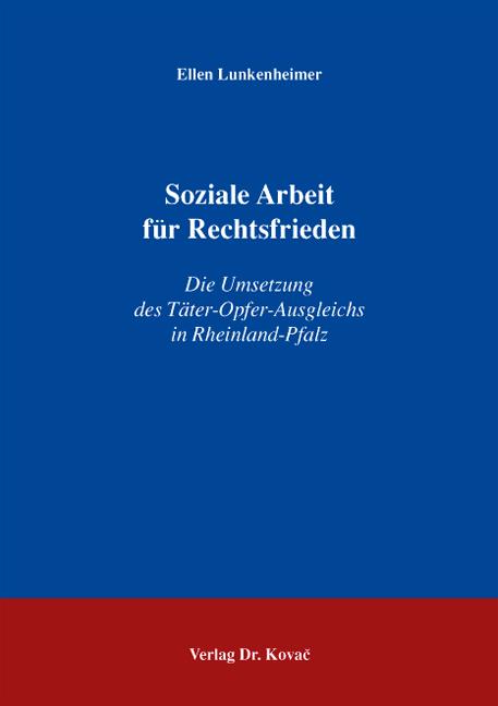 Cover: Soziale Arbeit für Rechtsfrieden