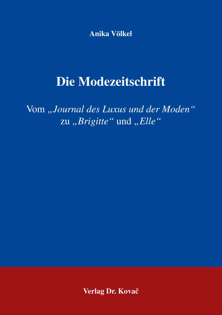Cover: Die Modezeitschrift