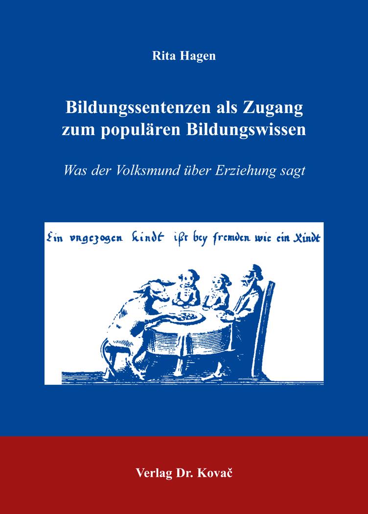 Cover: Bildungssentenzen als Zugang zum populären Bildungswissen