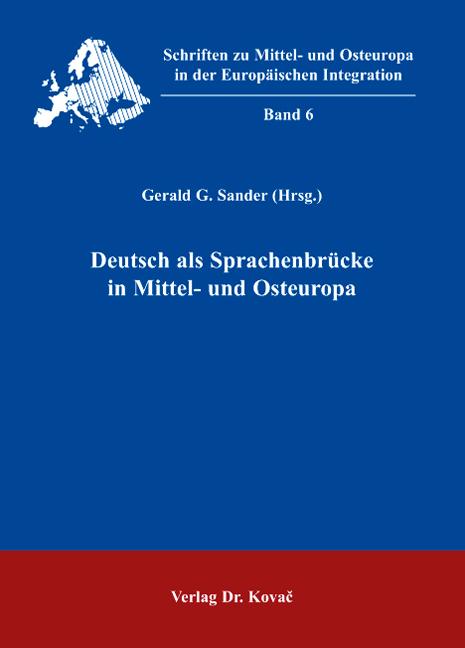 Cover: Deutsch als Sprachenbrücke in Mittel- und Osteuropa