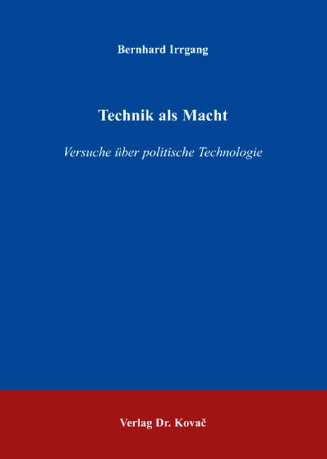 Cover: Technik als Macht